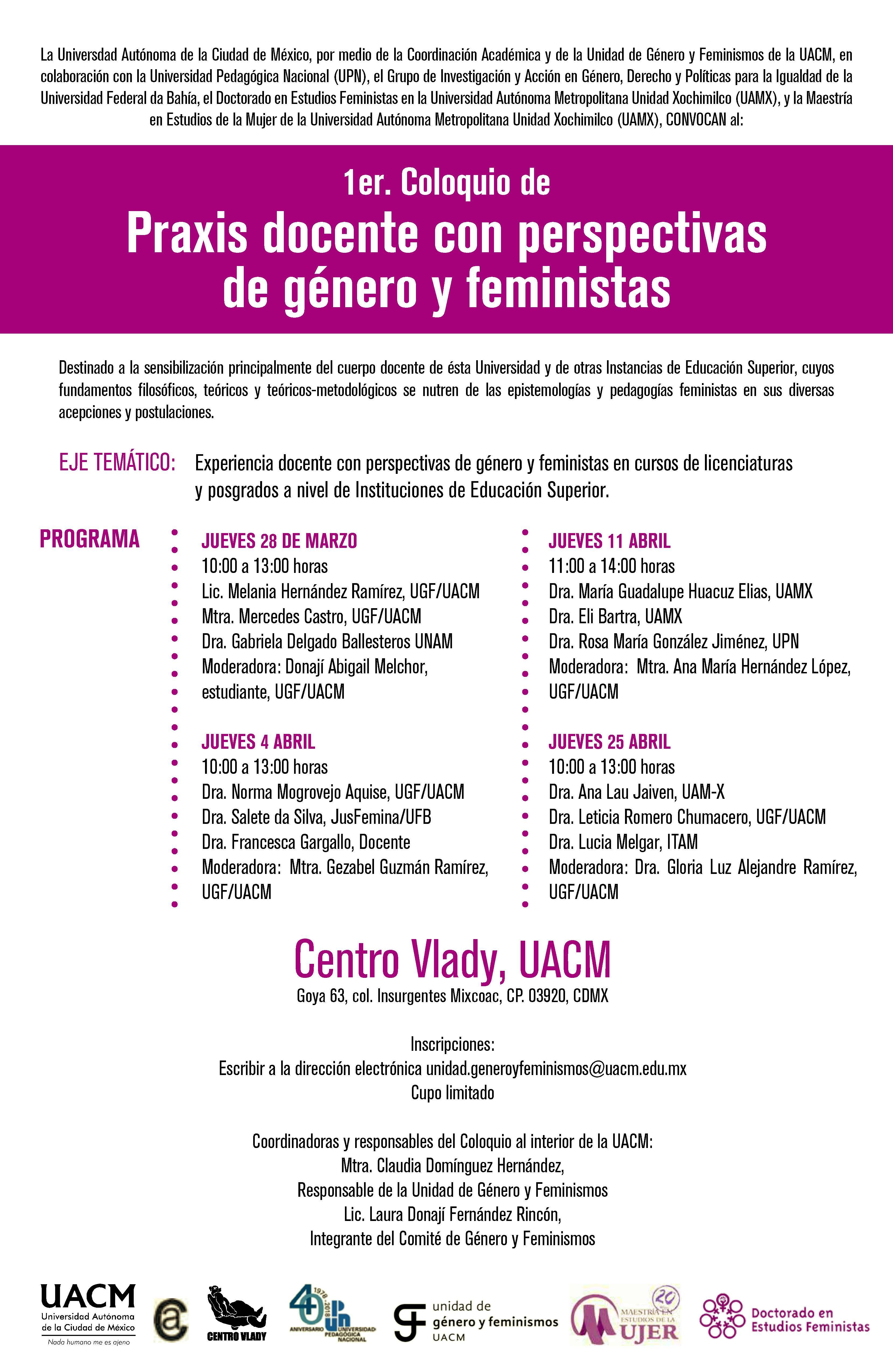 cartel coloquio género